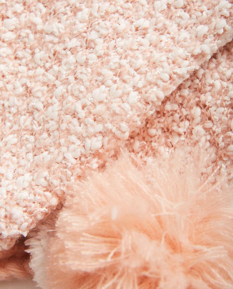 Strickware - Pink - Set aus Schal, Mütze und Fäustlingen